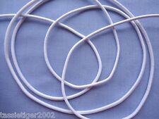 3mm White Round Elastic