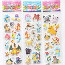 New Arrival 3X Pokemon Stickers Pikachu Pocket Monster Scrapbooking Sticker