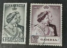 Gambia KGVI 1948 Silver Wedding Set. Fine Used. SG164-165. Cat £23.10