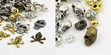 40g Metal Alloy Steampunk Skull Charms Mixed Colour Pendants (BOX135)