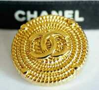 100% Chanel button 1 pieces   metal cc logo 1 inch 24 mm  💔 gold XLarge