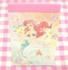 DELFINO / Disney Little Mermaid Ariel Mini Memo Pad / Made in Japan
