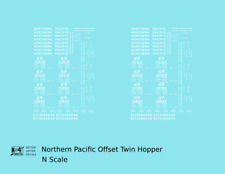 K4 N Decals Northern Pacific Offset Twin Hopper White