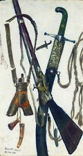 More details for ilya repin the accoutrements of war rifle sword gunpowder armaments new canvas