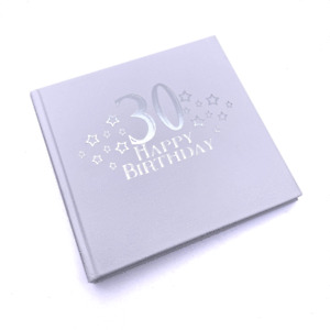 30th Birthday Photo Album For 50 x 6 by 4 Photos Silver Print FLPVPR