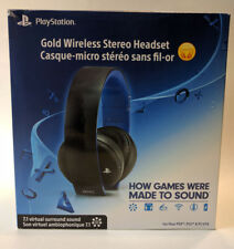 Sony Official Gold Wireless Stereo Gaming Headset - Ps4 Playstation 4 #2987