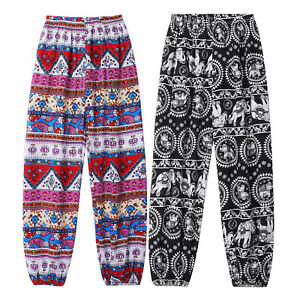 Kids Unisex Bloomers Loose Trousers Boho Pattern Print Comfy Breathable Pants