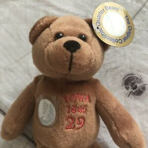 The Original Collectible Quarter Bears Iowa Plush 2002