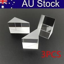 3Pcs Optical Isosceles Glass Right Angle Triangular Prism Optics Light Science