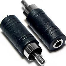 "De Phono RCA macho A 3.5 mm 1/8 ""Mono Jack enchufe adaptador"