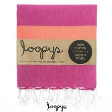 Loopys Pink & Sherbet Stripe premium Turkish Towel Beach Bath Pool Travel Hammam
