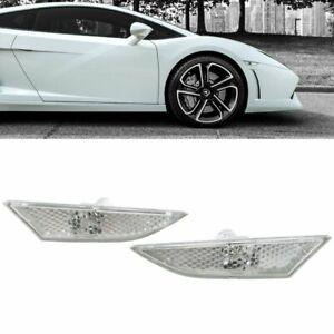 Lamborghini Gallardo 560 570 Clear Side Marker Indicator Lens Set