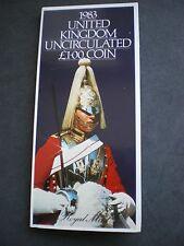 1983 £ 1 Libra Moneda primer año de emisión-Paquete de Presentación UNC