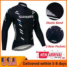 2021 Mens Cycling Jersey Long Sleeve Bike Tops Bicycle Shirts Maillots Jacket US