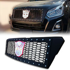 MATTE MATT BLACK FRONT GRILLE GRILL WITH NUT FIT FOR ISUZU D-MAX DMAX 2015-2017