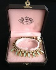 PENNINO Juicy Couture Nuovo gen.gold, Turchese & Diamanté Layered Bracciale Heart charm