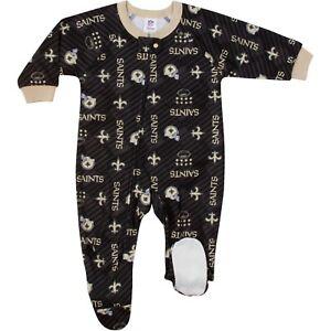 Gerber NFL New Orleans Saints Pajamas Infant Baby Toddler Blanket Sleeper Footed