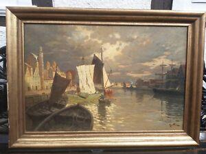 Gemälde 1900 - 1949 Max Fritz,Nord Deutsche Hafen