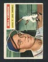 1956 Topps #170 Bill Virdon EX/EX+ Cardinals 94493