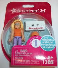 American Girl doll plastic miniature,  Mega blocks 13 pieces, age 8+, series one