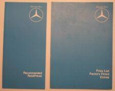 MERCEDES BENZ RANGE 1980 UK Mkt New Car Price & Extras Brochures - SL SE SEL 6.9