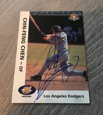 CHIN-FENG CHEN LOS ANGELES DODGERS TAIWAN SIGNED 2000 ARIZONA FALL LEAGUE CARD