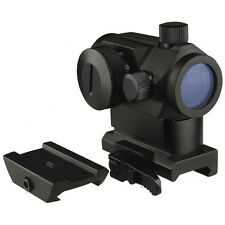 Micro Dual (Red/Green) Red Dot Sight With QD Riser Mount, Low Profile Base