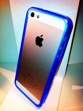 Nuovo Bumper ultra slim per Apple iPhone 5 5s colore blue Fluo blu TRASPARENTE