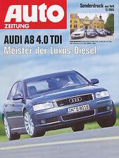 2114AU Audi A8 4.0 Sonderdruck Test 12/03 2003 VW Phaeton V10 400 BMW 740d Test