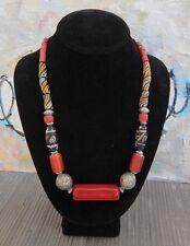 Antique, Handmade Trade Bead necklace, Venetian, African, Asian,Mixed Metals
