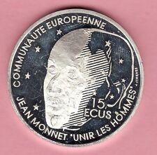 100 FRANCS ARGENT JEAN MONNET PERE EUROPE 1992