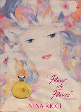 PUBLICITE ADVERTISING 1996   NINA RICCI   Fleur de Fleur parfum
