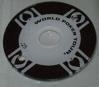 World Poker Tour Pinball Machine Promo Plastic Original Stern NOS Black #25