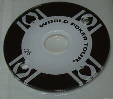 STERN WORLD POKER TOUR ORIGINAL NOS PINBALL MACHINE POKER CHIP PLASTIC BLACK #25