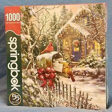 Springbok's 1,000 Piece Jigsaw Puzzle Cardinal Cottage  NEW SEALED