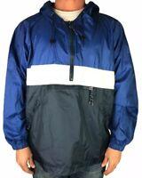 Mens XLarge Vintage GAP Half Zip Pullover Hooded Weather Nylon Jacket