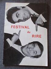 Roger Pierre et Jean Marc Thibault, festival de rire, programme de spectacle