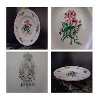Assiette plate porcelaine opaque Lunéville Art Nouveau France model Pop Art N135