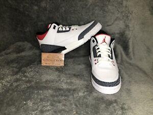 Air Jordan 3 Retro Denim SE GS 'Fire Red/black' CZ6634 -100 Size 7Y Deadstock