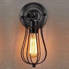 E27 Vintage Käfig Industrielampe Wandleuchte Metall  Antik-Stil klassisch Eisen