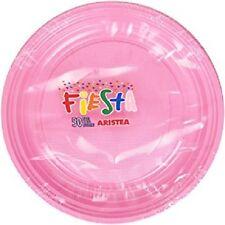 50 PIATTI PLASTICA ROSA 18 CM