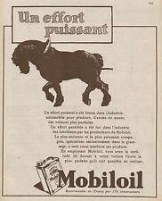 Y9145 MOBILOIL - Un effort puissant... - Pubblicità d'epoca - 1930 Old advert