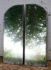 "Pair 10""x28"" Antique 1924 Vintage Old Arched Wall Dresser Vanity Mirror Glass"
