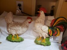 Vintage Homco Rooster & Hen Wall Decor Excellent Condition