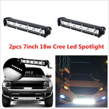 2pc 7inch 18W Cree LED Work Light Bar Spotlight Offroad 12V 4WD SUV ATV Car Lamp