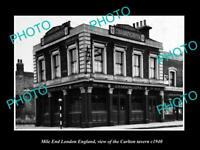 OLD LARGE HISTORIC PHOTO MILE END LONDON ENGLAND THE CARLTON TAVERN c1940