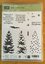 Retired Stampin' Up! SEASON LIKE CHRISTMAS, New, photopolymer mount,Holiday tree