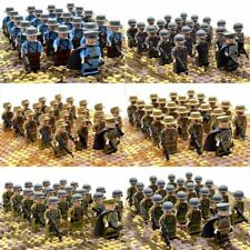 21pcs WW2 Military Soldiers US Britain France Army + Weapon for Lego Minifigures