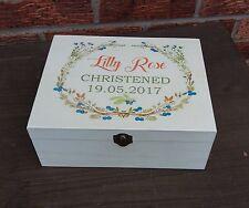 Christmas box wooden personalised memory Treat box keepsake box gift idea
