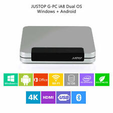 GPC mini PC de escritorio de Windows 10 Intel Atom Quad Core 2GB+32GB HDMI HD TV Box HTPC